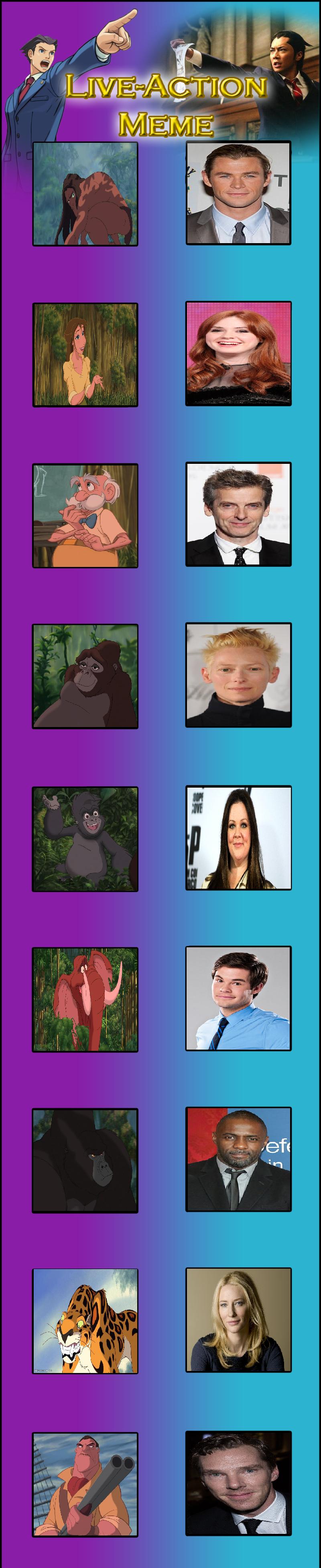 Tarzan Live Action Cast by Prentis-65
