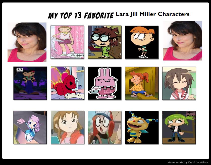 My Top 13 Favorite Lara Jill Miller Characters by Prentis-65