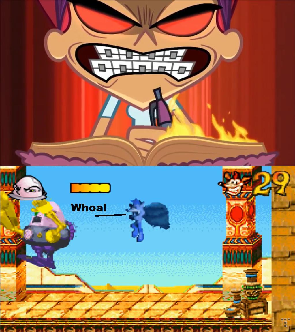 Trina Kills Crash Bandicoot by Prentis-65