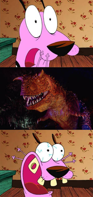 Courage Scared of Carnotaurus