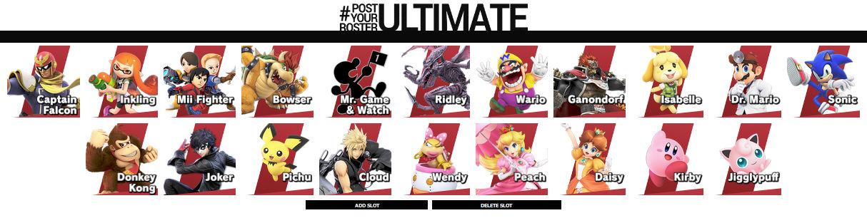 My Top 20 SSBU Characters