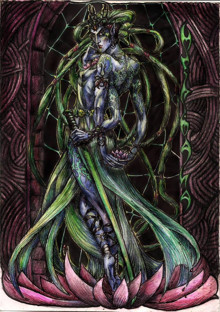 Mephala. The Daedra Lady