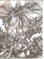 Berserkers and  Valkyries by Righon