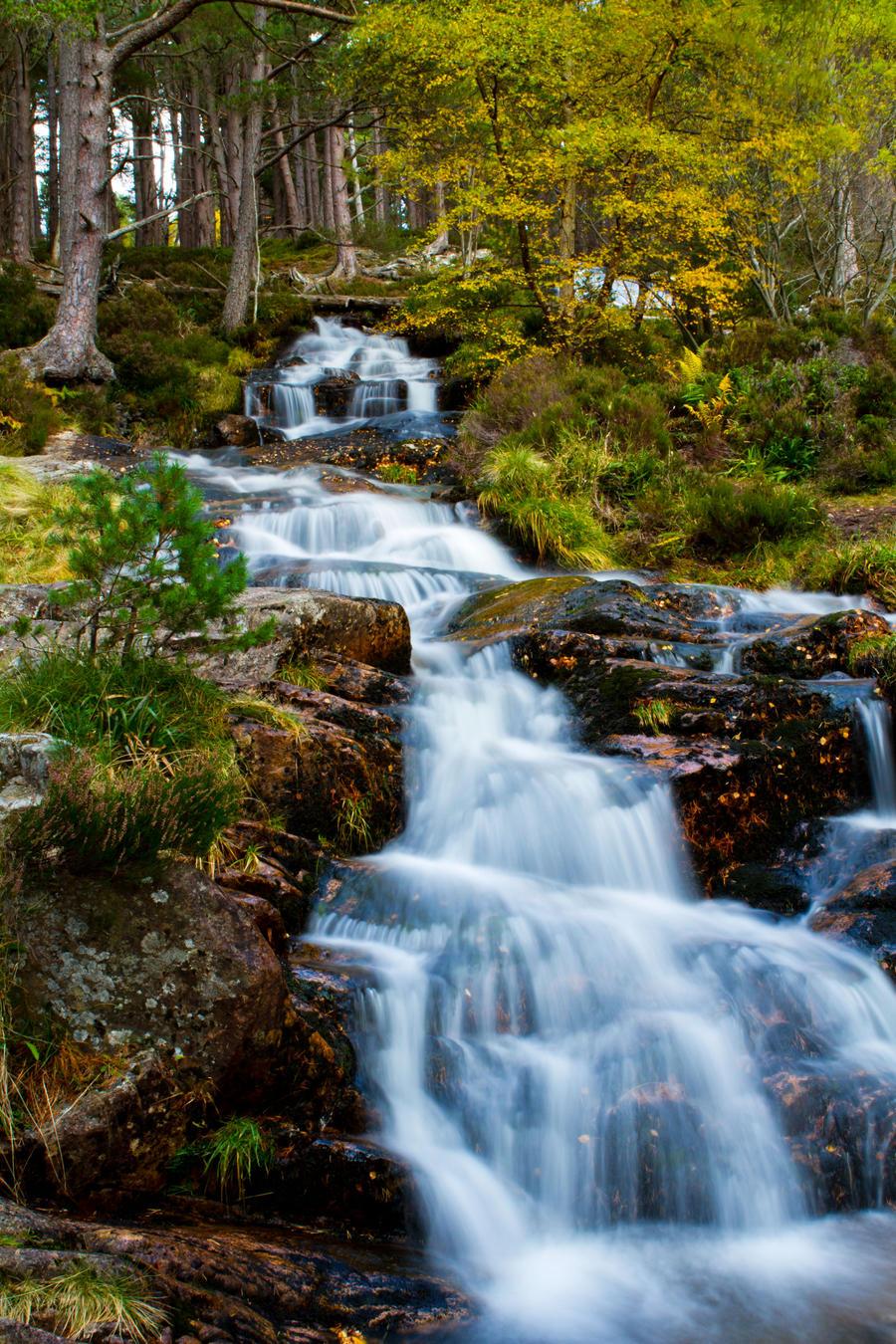 Glen Feshie Waterfall by Weevil07