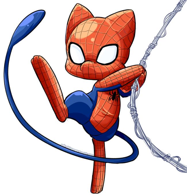 SpiderMew by Inkysky