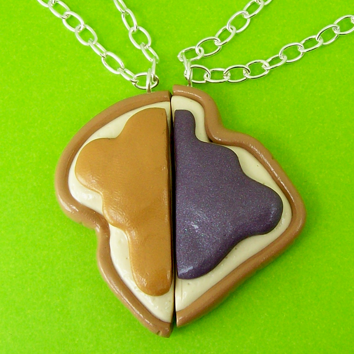 Peanut Butter Jelly Necklaces by beatblack