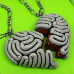 Brainy Best Friends Necklace by True-Crimeberry