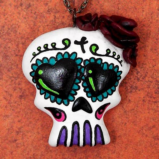 Sugar Skull Necklace by beatblack