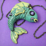 Blue Koi Fish Necklace