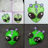 Alien Pendant by True-Crimeberry