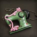 Zombie Sewing Machine Necklace