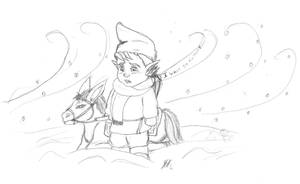 Mido in the cold by Pitdragon