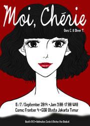 Moi, Cherie postcard by diesluminous