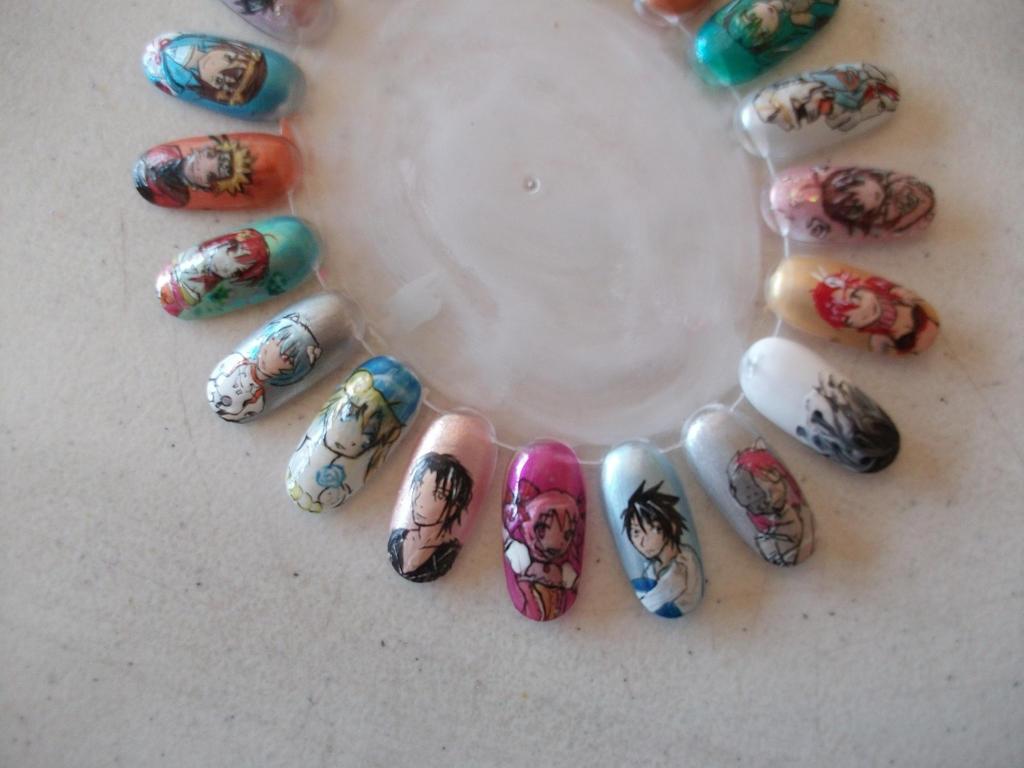 Anime nails 2 by x0shirari on deviantart anime nails 2 by x0shirari prinsesfo Gallery