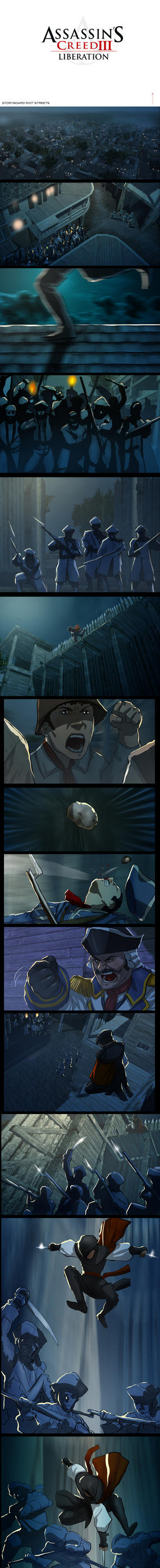 ACIII Liberation Storyboard Riots by satanasov