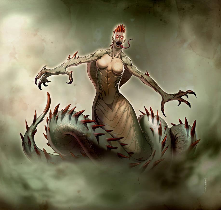 Snakewoman by satanasov