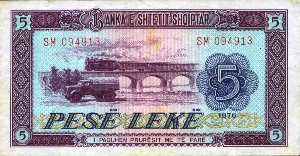 banknotes - ALBANIA no.1 by gapystock