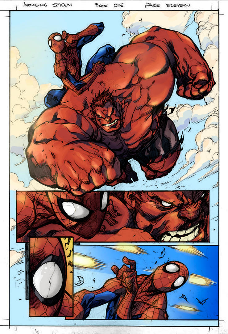 Avenging Spider Man Page Eleven by Brenofil
