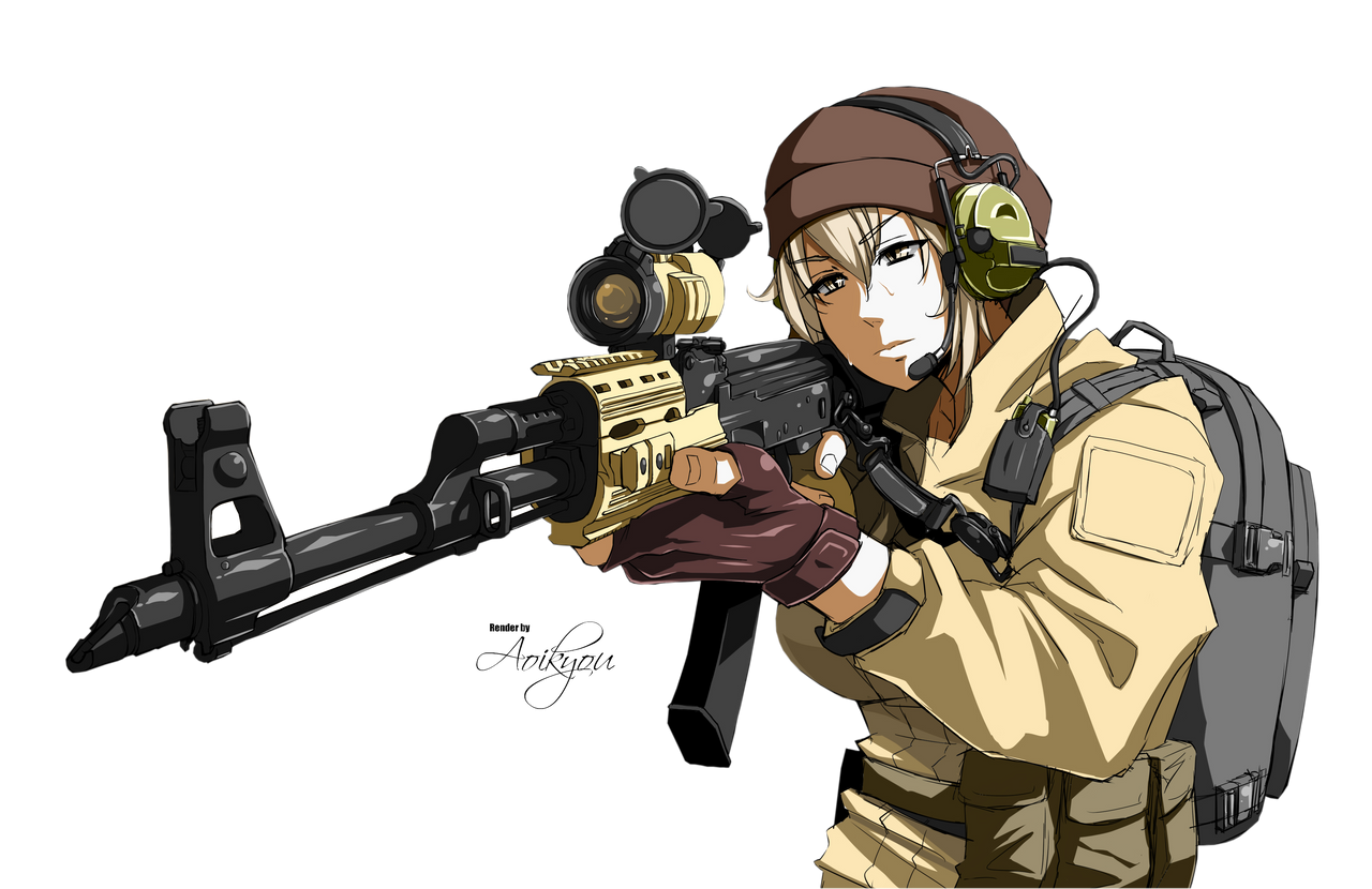 how to draw anime soldier girl