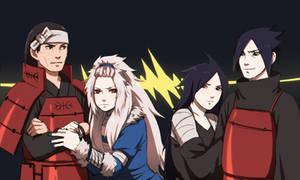 Uchiha vs Senju parents {Colored}