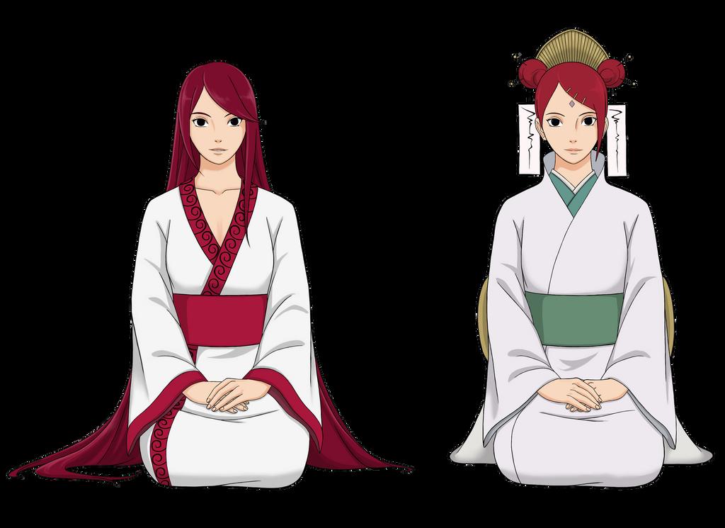 Mito and mieko {Uzumaki sisters} by Rarity-Princess