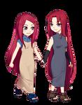 Kushina and kana uzumaki