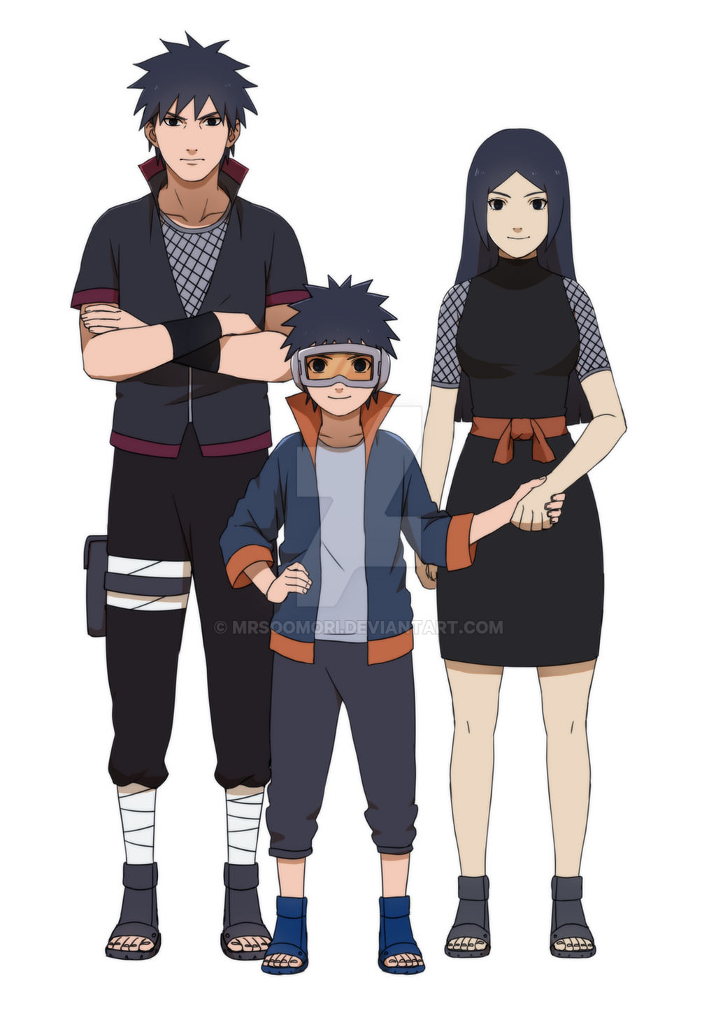 Obito and his parents by MrsOomori on DeviantArt