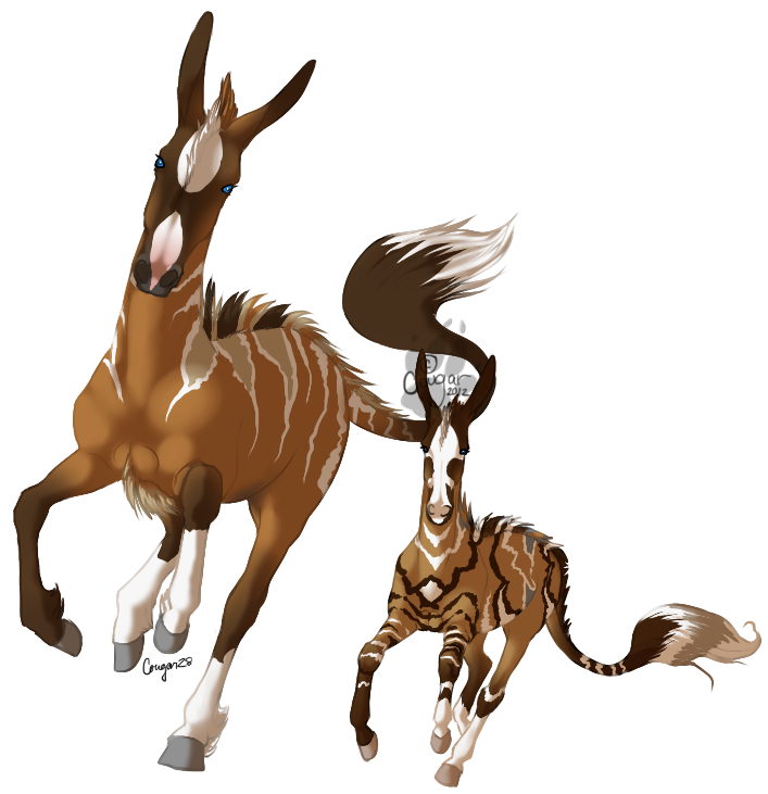 Kizmet and Rebel Spark by Cougar28