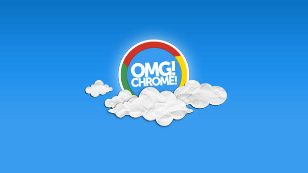 OMG! Chrome! Clouds Wallpaper