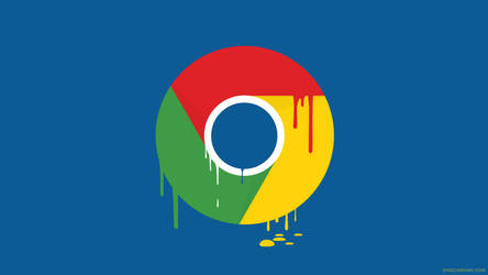 Chrome Paint Drop Wallpaper