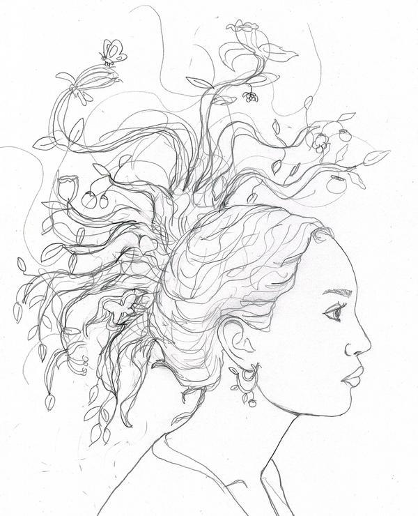 Tree Hair Sketch By Rmartin2819 On Deviantart