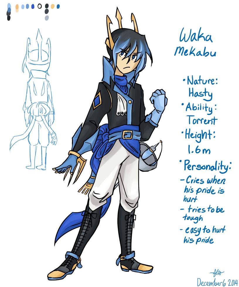 Character Reference: Waka Mekabu by Arashi-Penguin