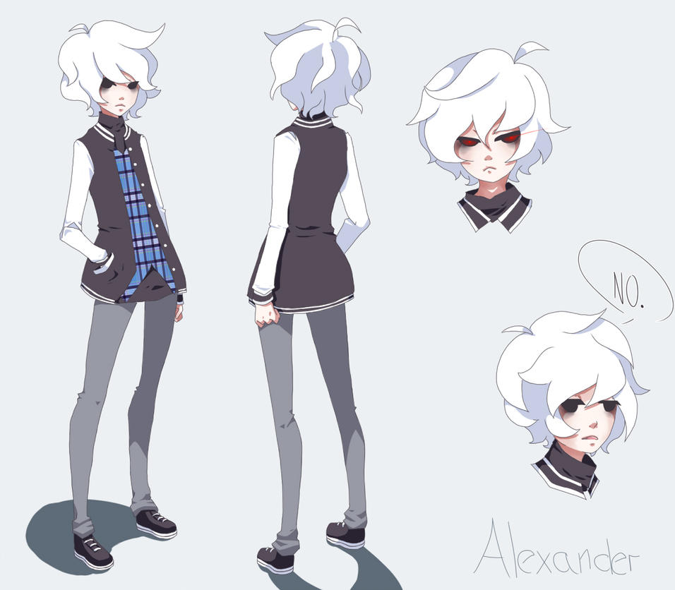 Anime Boy Character Design : Anime character sheet alexander by eeveelyne on deviantart