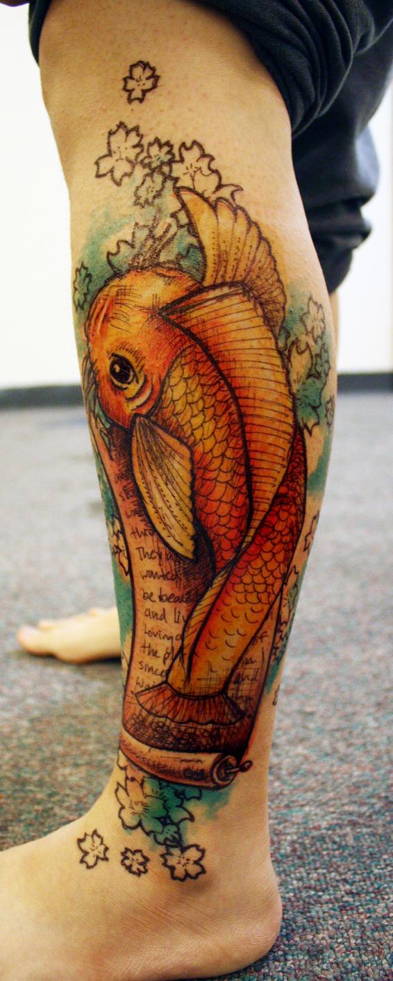 Koi fish.1 by midnightINK
