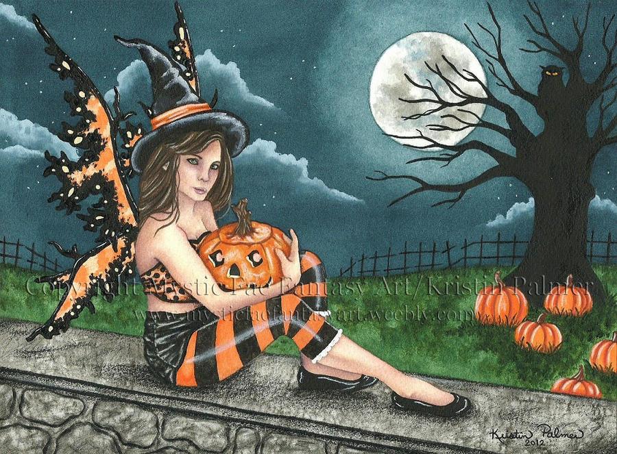 Pumpkin Companion by MysticFaeFantasyArt