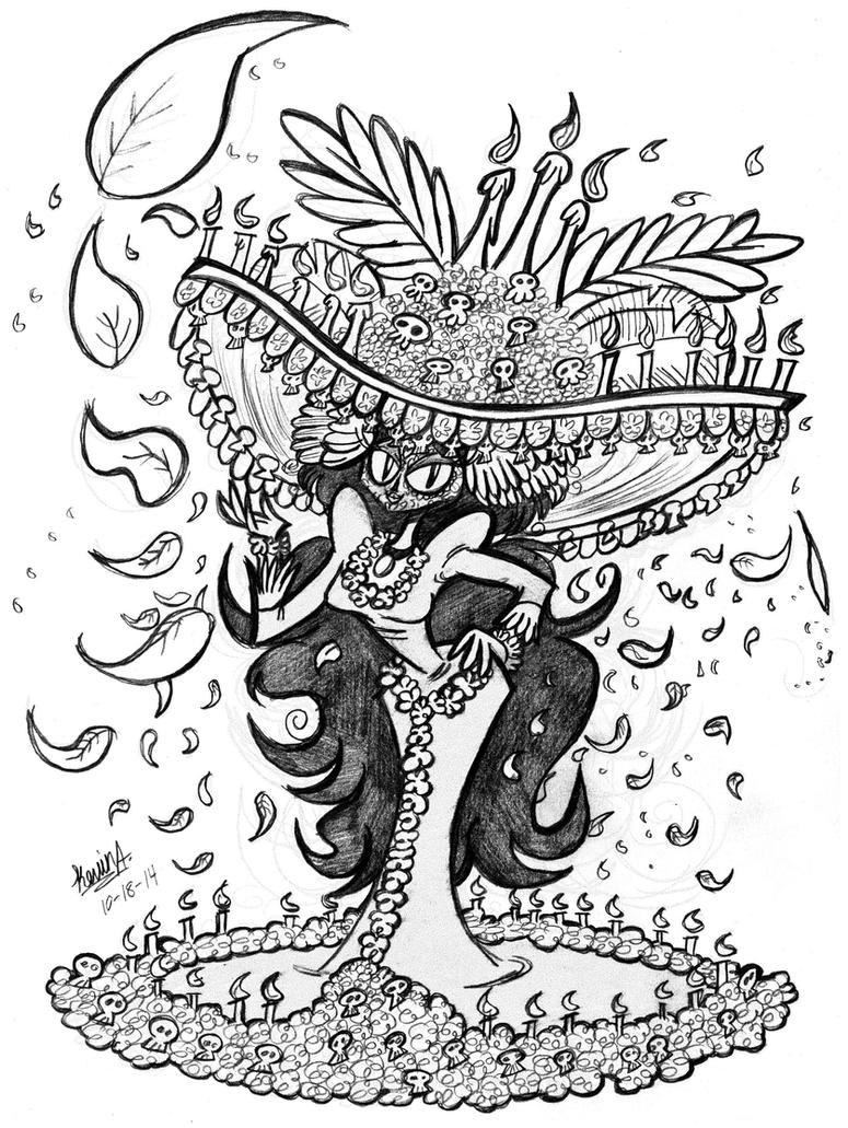 La Muerte The Book Of Life Movie Coloring Page And Maria