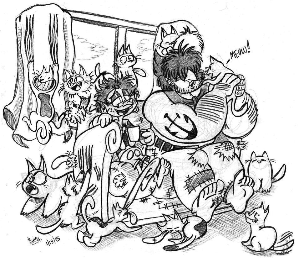 You sure like cats don't ya by EeyorbStudios