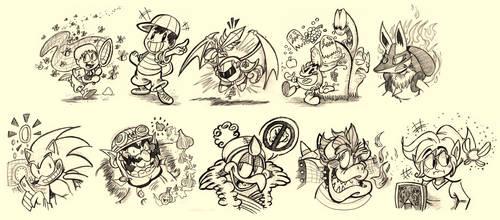 Smash Bros. Doodles