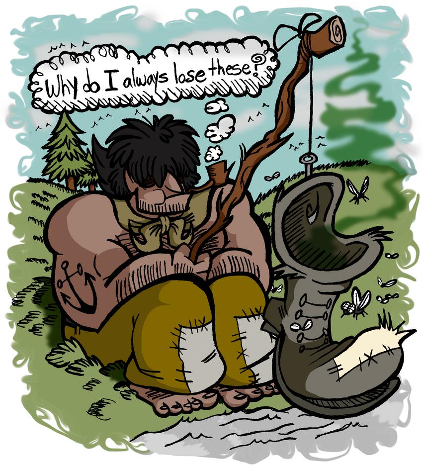 Fishing for Boots by EeyorbStudios