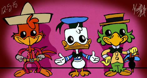 The Three Caballeros POPs by EeyorbStudios