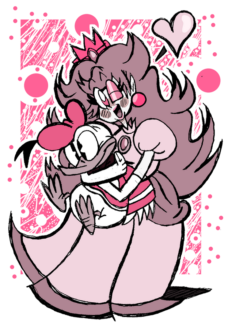 Peach and the Plushie by EeyorbStudios