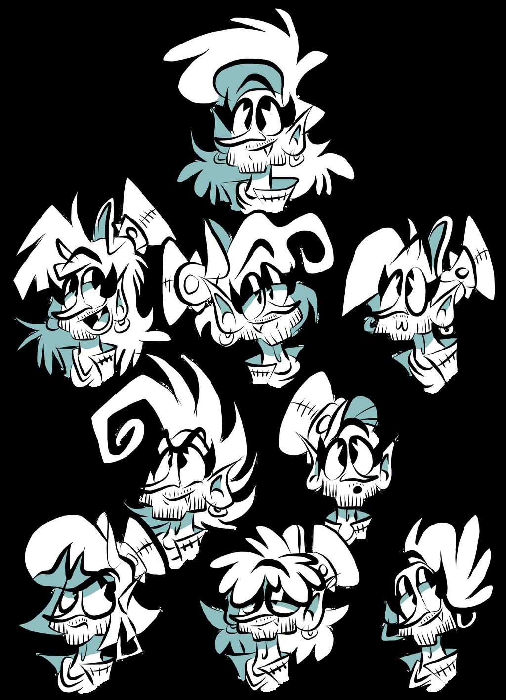 Snazzy Hairstyles by EeyorbStudios