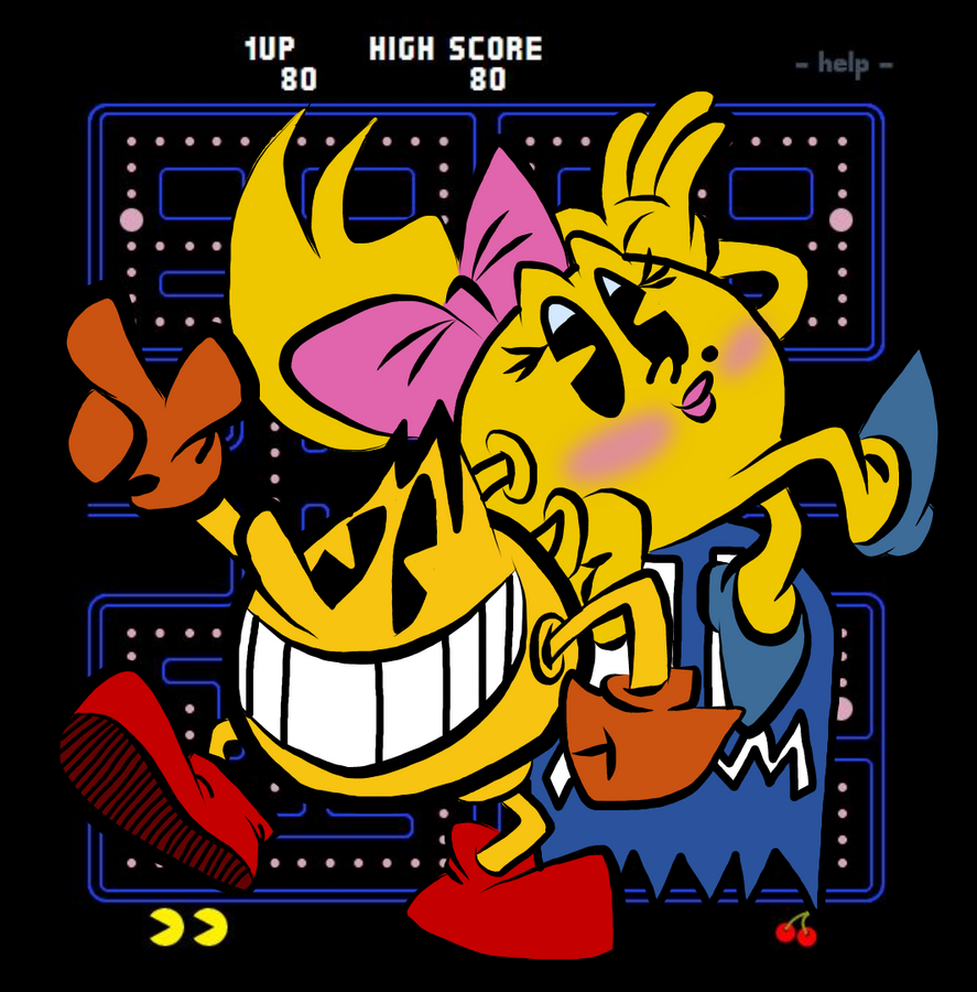 Pac-Man and Ms. Pac-Man by EeyorbStudios