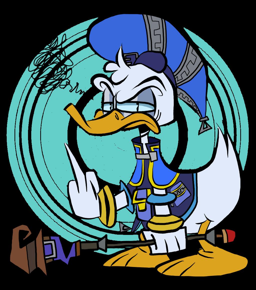 That duck from Kingdom Hearts by EeyorbStudios
