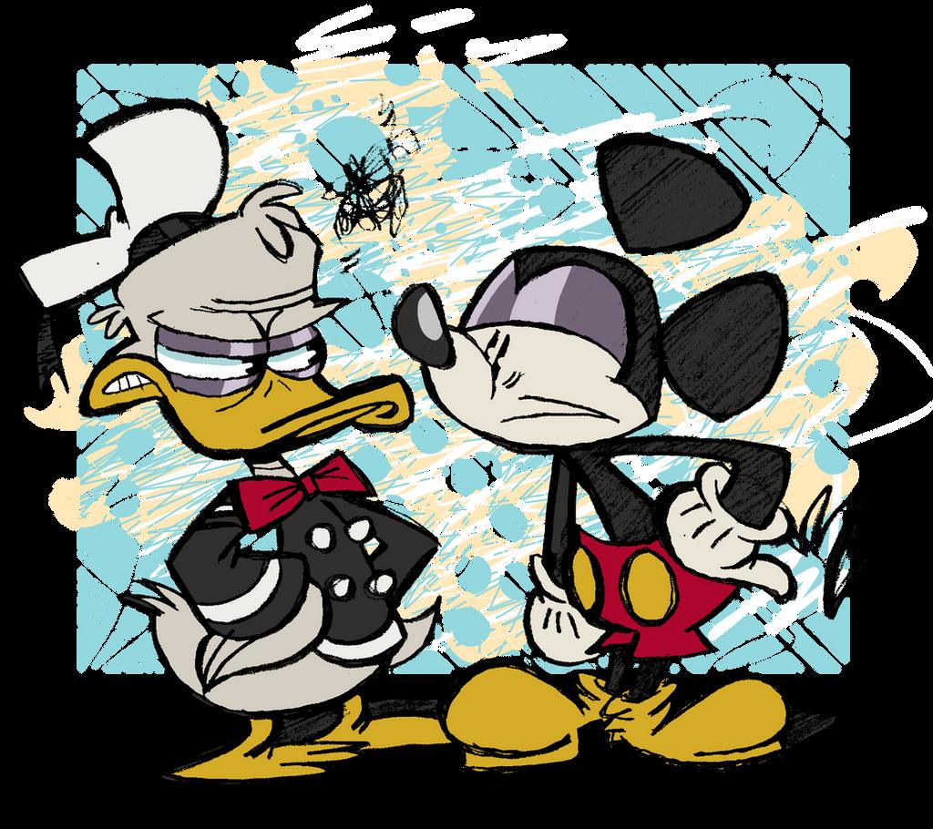 Who do you prefer, Mickey or Donald? by EeyorbStudios