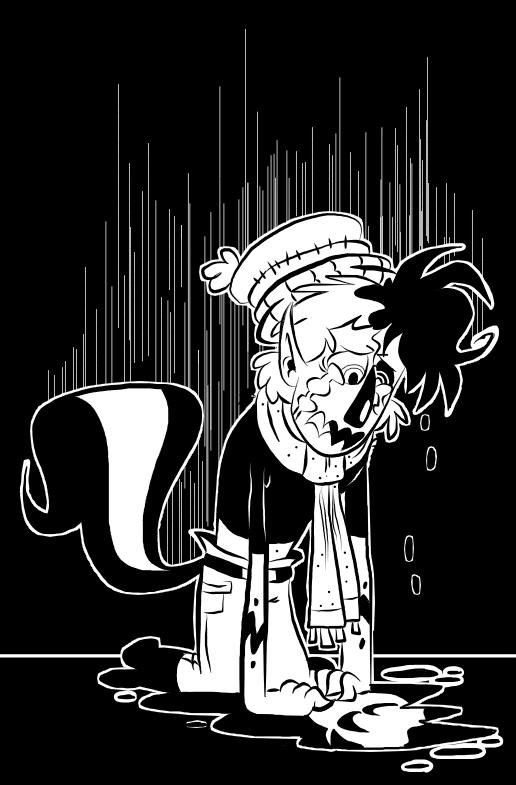 Sad Sad Skunkboy by EeyorbStudios