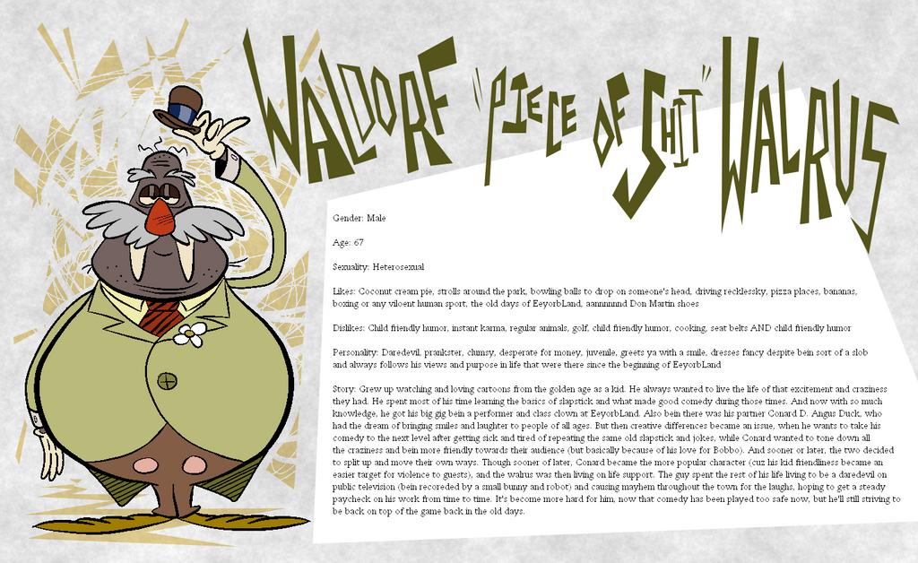 Eeyorb Bios: Waldorf Walrus by EeyorbStudios
