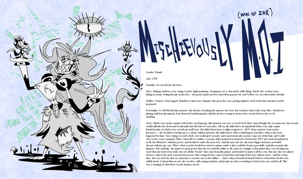 Eeyorb Bios: Mischievously M.O.I. by EeyorbStudios