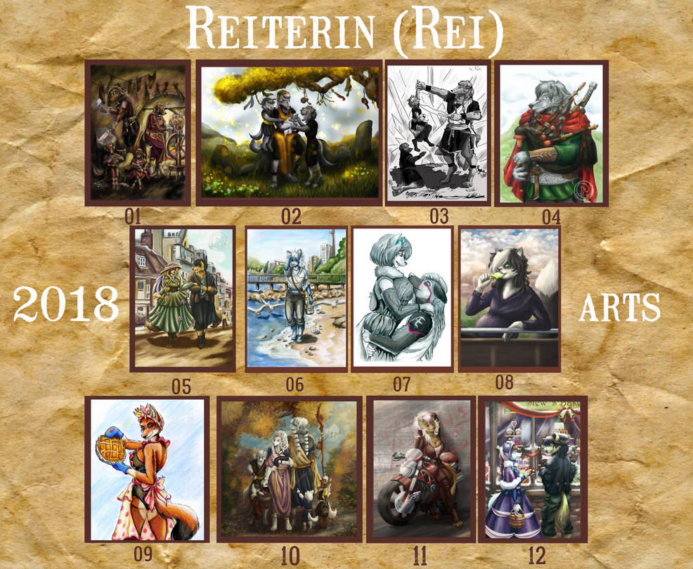 2018 Summary of art by Reiterin2501