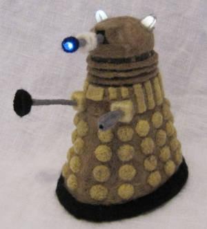 Light-Up Needle-Felted Dalek